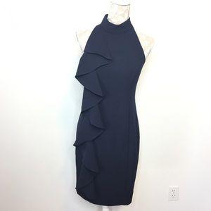 Eliza J Asymmetric Drape Ruffle Sheath Dress LQ168